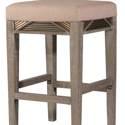 Alcanza Distressed Wood Bar Stool