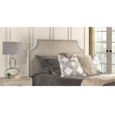Contemporary Upholstered Panel Headboard Size: King