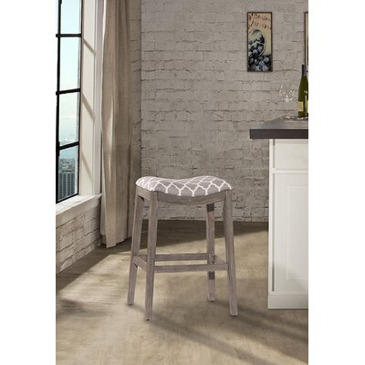 Hebron Contemporary Bar Stool Color: Gray