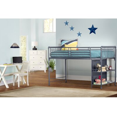 Wanger Junior Twin Loft Bed Bed Frame Color: Navy