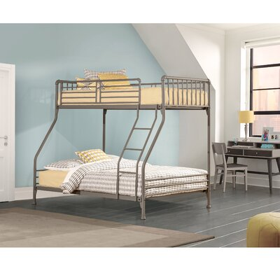 Wanger Twin/Full Bunk Bed Bed Frame Color: Stone