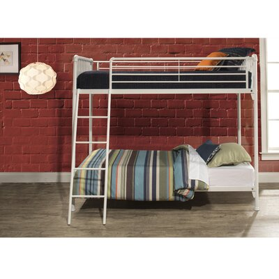Wanger Twin Bunk Bed Bed Frame Color: White