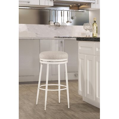 Lauri Round Backless Swivel Bar Stool