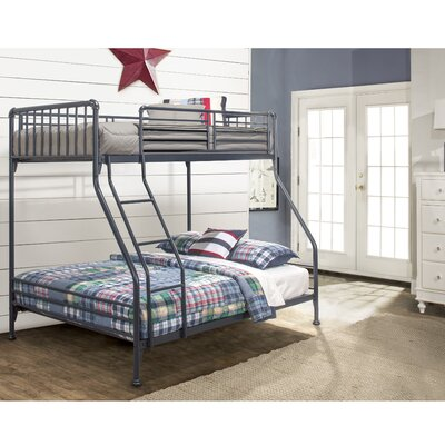 Wanger Twin/Full Bunk Bed Bed Frame Color: Navy