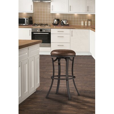 Karsten Round Swivel Bar Stool Color: Black