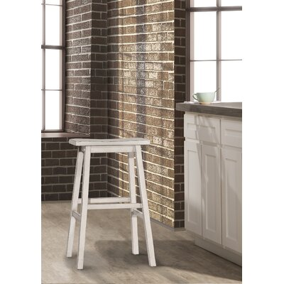 Angelique Bar Stool Color: White