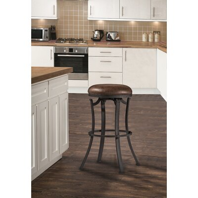 Karsten Swivel Bar Stool Color: Black