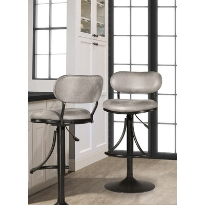 Bodden Adjustable Swivel Bar Stool Color: Black