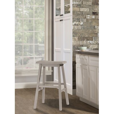 Angelique Saddle Bar Stool Color: Gray