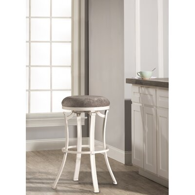 Karsten Swivel Bar Stool Color: White