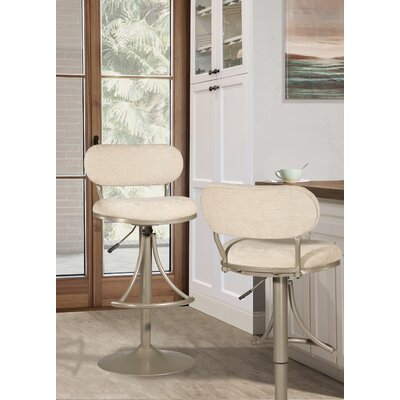 Bodden Adjustable Swivel Bar Stool Color: Champagne