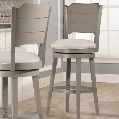 Kinsey 30 Swivel Bar Stool Color: Gray