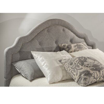 Broughtonville Tufted Upholstered Panel Headboard Size: King, Upholstery: Light Gray