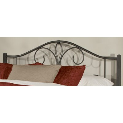 Keele Black Sparkle Open-Frame Headboard Size: Full/Queen