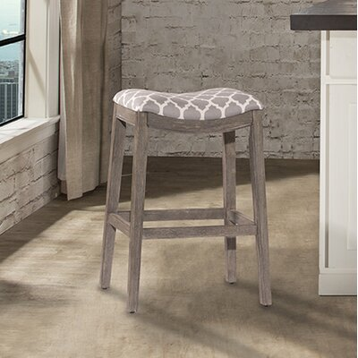 Hebron Bar Stool Color: Gray