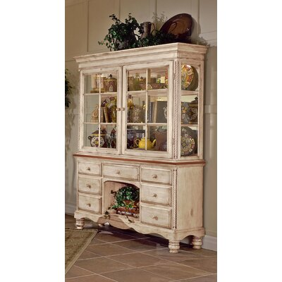 Cheap Hillsdale Wilshire Antique White Buffet & Hutch (HF2797)