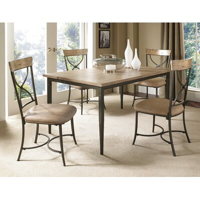 Hillsdale Charleston 7 Piece Rectangle Dining Table Set With X Back Chairs In