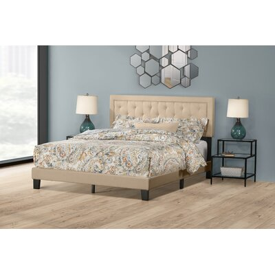 Keesler Upholstered Panel Bed Size: Queen