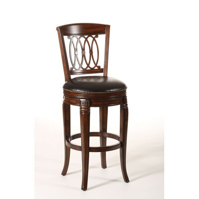 Montello Wood Swivel Stool in Black Honey Select Size: Counter 25
