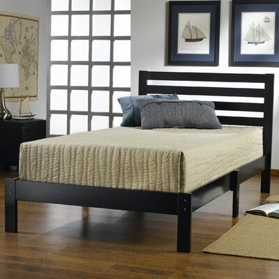 Bogardus Twin Platform Bed Color: Black