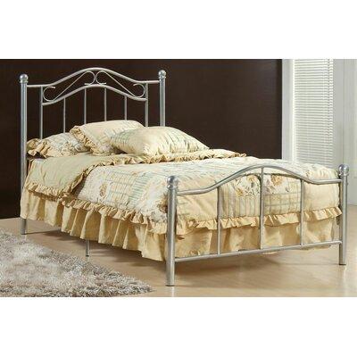 Gavin Twin Slat Bed Color: Silver