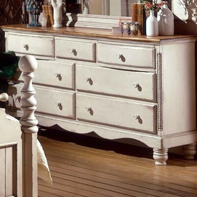 Easy financing Wilshire 7 Drawer Dresser Finish: A...
