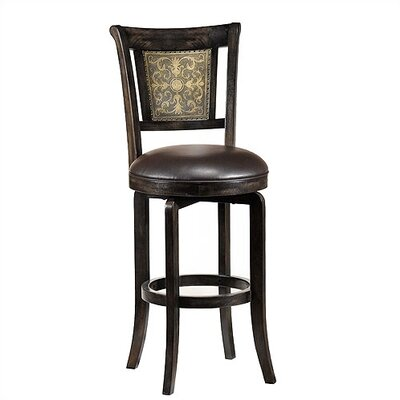 Camille Black 30 Swivel Bar Stool