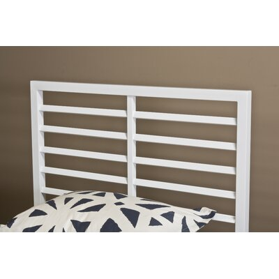 Latimore Slat Headboard Size: Twin, Color: White