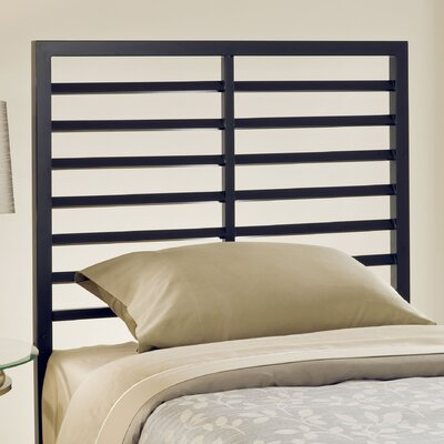 Latimore Slat Headboard Size: Twin, Finish: Charcoal Black