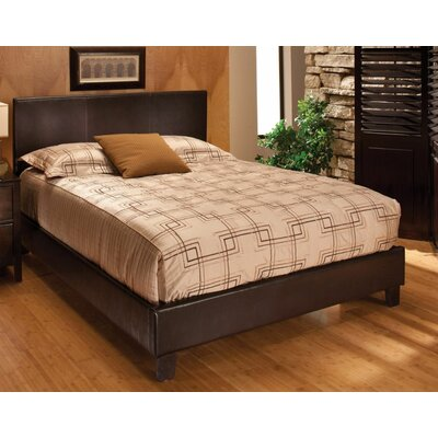 Harbortown Upholstered Platform Bed Size: King, Color: Brown Vinyl