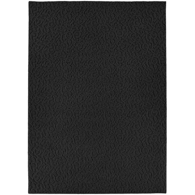 Edith Black Rug Rug Size: 12 x 18