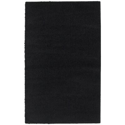 Southpointe Shag Black Area Rug Rug Size: 6 x 9
