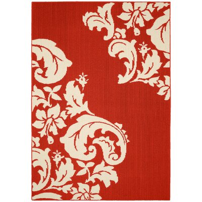 Cambridge Crimson Red/Ivory Area Rug
