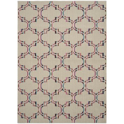 Silhouette Hand-Tufted Tan Area Rug