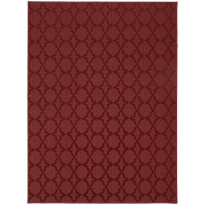 Chili Red Sparta Area Rug Rug Size: 5 x 7