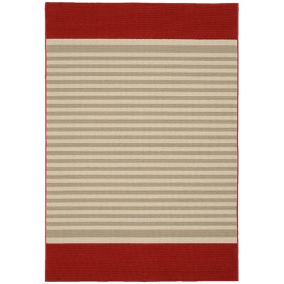 Sideline Crimson/Tan Area Rug
