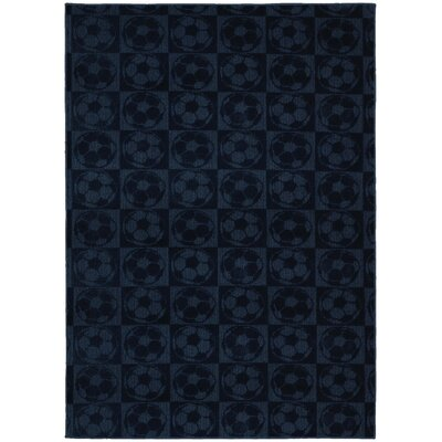 Sports Balls Navy Area Rug Rug Size: 76 x 96