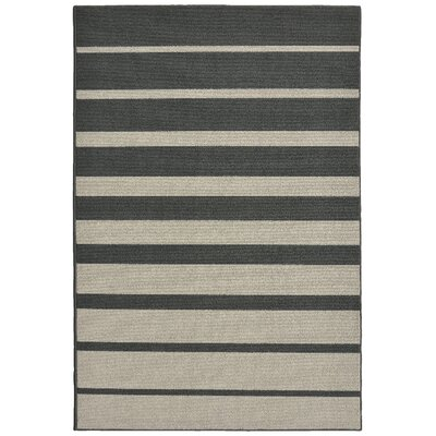 Stair Steps Cinder/Silver Area Rug