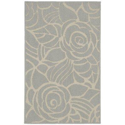 Rhapsody Silver/Ivory Area Rug Rug Size: 26 x 310