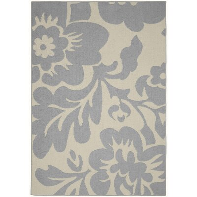 Floral Garden Silver/Ivory Area Rug Rug Size: 8 x 10