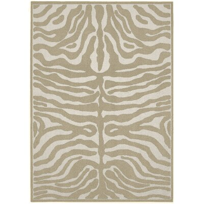 Safari Tan/Ivory Area Rug Rug Size: 5 x 7