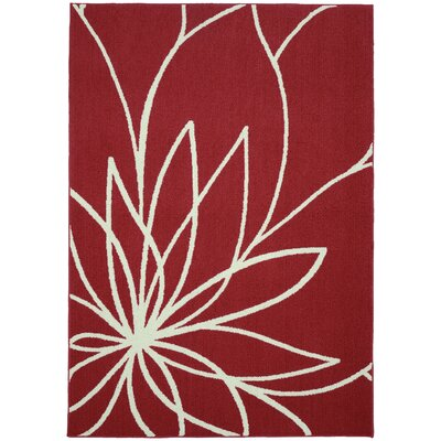 Grand Floral Santa Fe Coral/Ivory Area Rug Rug Size: 26 x 310