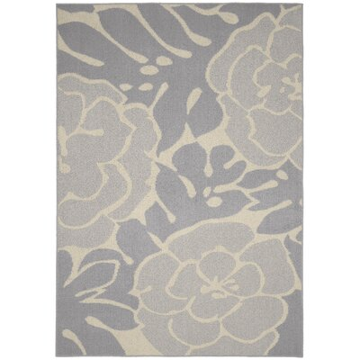 Valencia Silver/Ivory Area Rug Rug Size: 5 x 7
