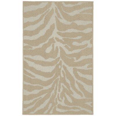 Safari Tan/Ivory Area Rug Rug Size: 26 x 310