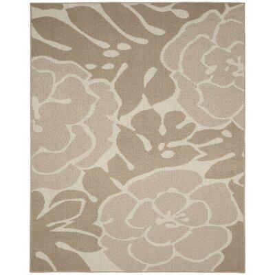 Valencia Tan/Ivory Area Rug Rug Size: 8 x 10