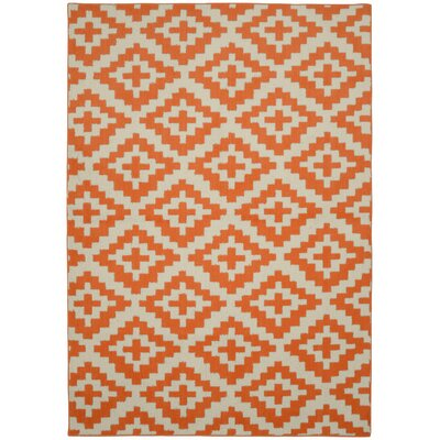 Southwest Orange/Ivory Area Rug