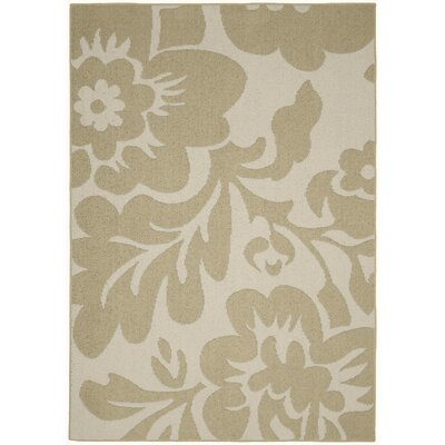 Floral Garden Tan/Ivory Area Rug Rug Size: 8 x 10