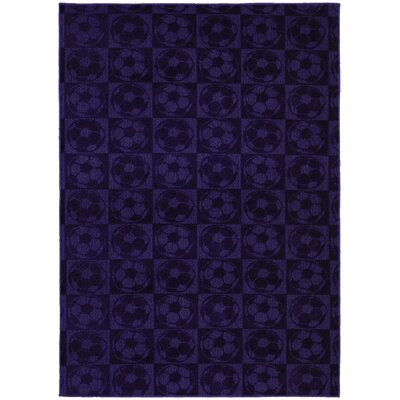 Sports Balls Purple Area Rug Rug Size: 5 x 7