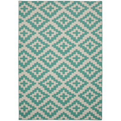 Southwest Teal/Ivory Area Rug
