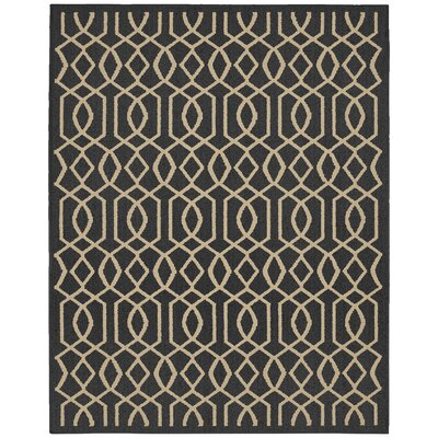 Fretwork Cinder/Tan Area Rug Rug Size: 8 x 10